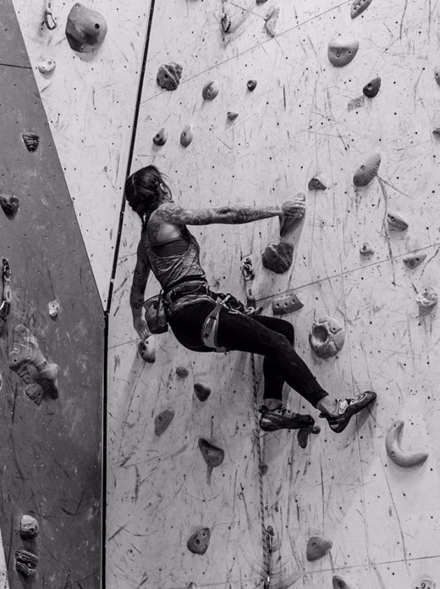 Carmen McIlveen Project One climbing